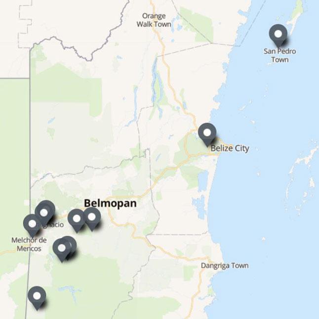 Carte Itinéraire Voyage Belize