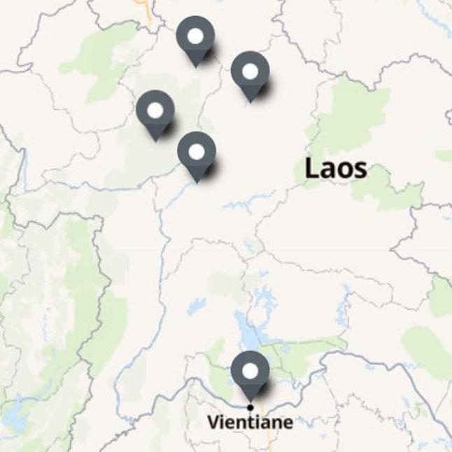 Carte Itinéraire Voyage Laos