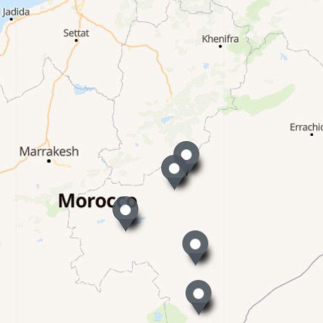 Carte Itinéraire Voyage Maroc