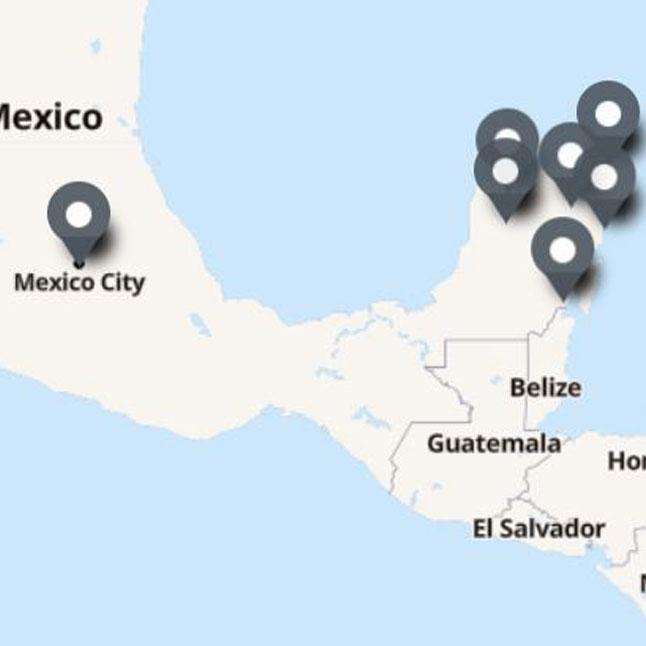 Carte Itinéraire Voyage Mexique