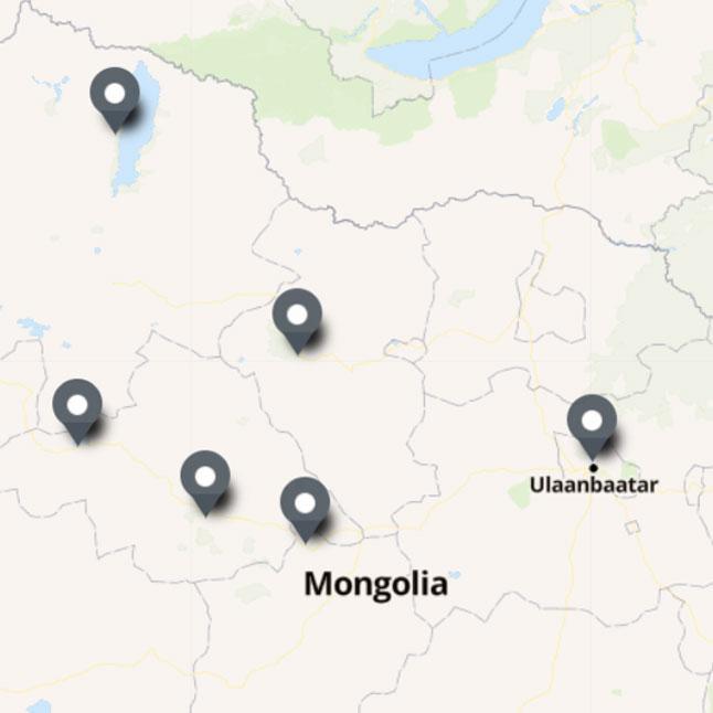 Carte Itinéraire Voyage Mongolie
