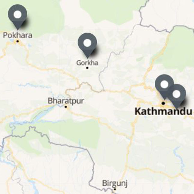 Carte Itinéraire Voyage Népal