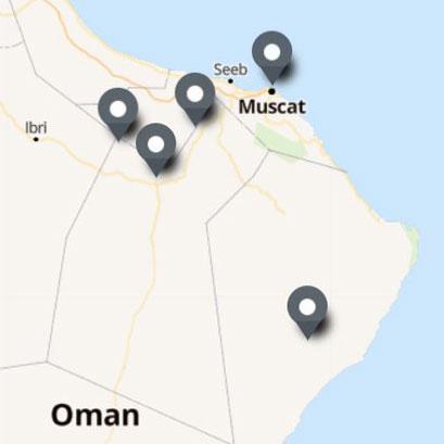Carte Itinéraire Voyage Oman