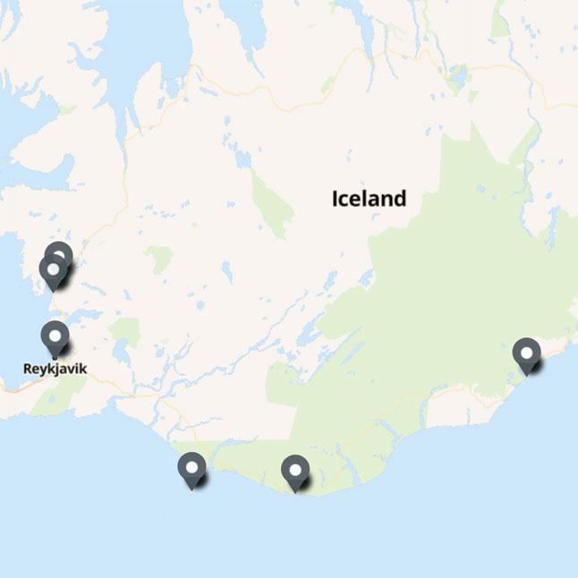 Carte Itinéraire Voyage Islande