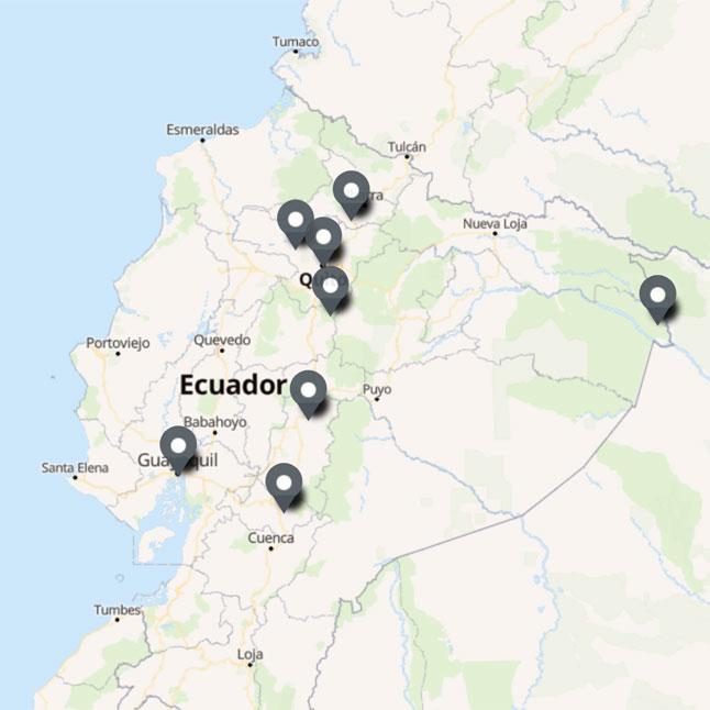Carte Itinéraire Voyage Equateur