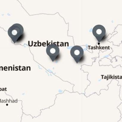Carte Itinéraire Voyage Ouzbékistan