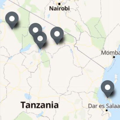 Carte Itinéraire Voyage Tanzanie